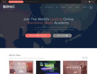 sonicacademy.com screenshot