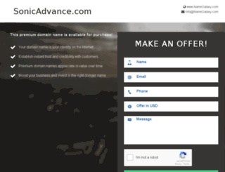 sonicadvance.com screenshot