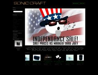 soniccraft.com screenshot
