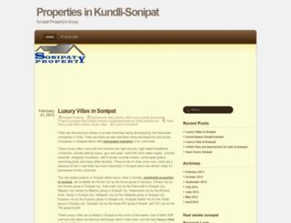 sonipatproperty.wordpress.com screenshot