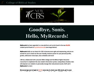 sonis.cbshouston.edu screenshot