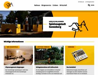 sonneberg.de screenshot
