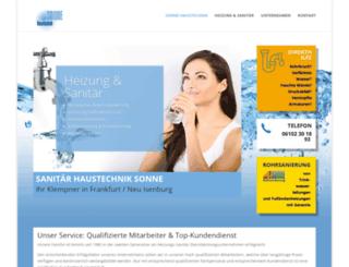 sonnehaustechnik.com screenshot