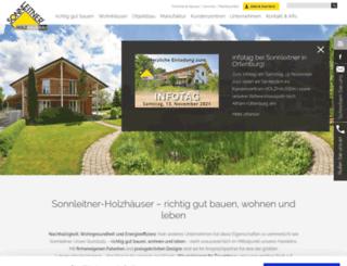 sonnleitner-holzhaus.at screenshot