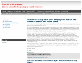 sonofabusiness.com screenshot