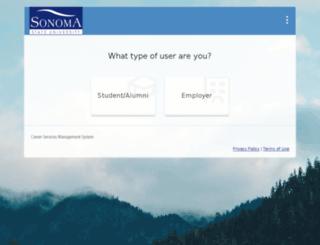 sonoma-csm.symplicity.com screenshot