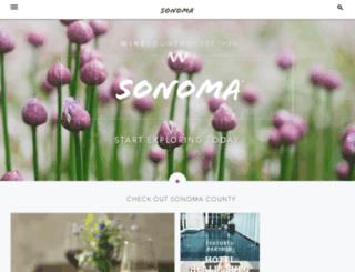 sonoma.winecountry.com screenshot