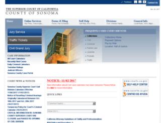 sonomasuperiorcourt.com screenshot