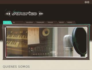 sonorico.com.ar screenshot
