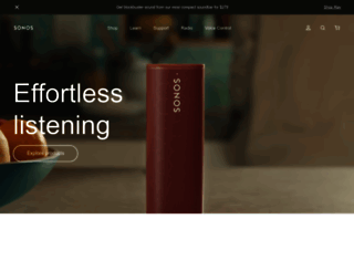 sonos.com screenshot