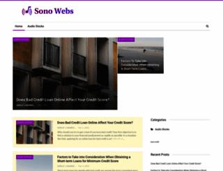 sonowebs.com screenshot