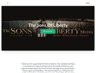 sonsofliberty.dntly.com screenshot