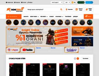 sonteklif.com screenshot