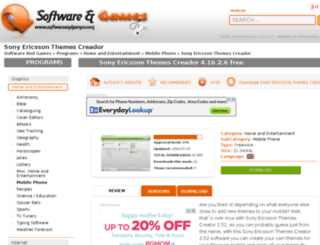 sony-ericsson-themes-creador.10001downloads.com screenshot