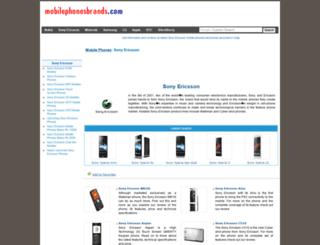 sony-ericsson.mobilephonesbrands.com screenshot
