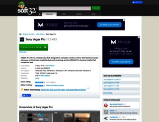 sony-vegas-pro.soft32.com screenshot