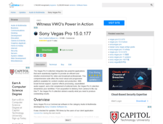 sony-vegas-pro.updatestar.com screenshot