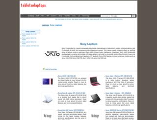 sony.tabletsnlaptops.com screenshot