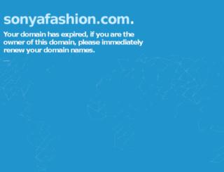 sonyafashion.com screenshot