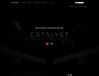sonycreativesoftware.com screenshot