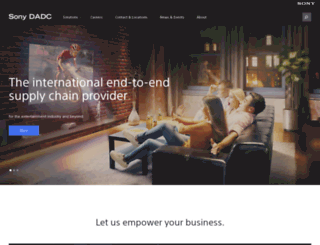 sonydadc.com screenshot