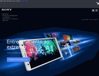 sonymobile.com.br screenshot