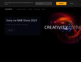 sonypro.com.br screenshot