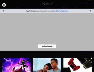 sonyrewards.com screenshot