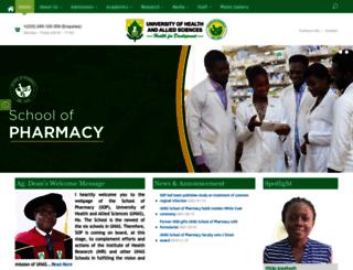 sop.uhas.edu.gh screenshot