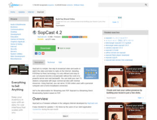 sopcast.updatestar.com screenshot