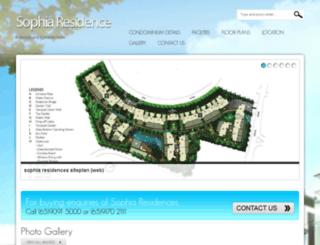 sophia-residences.com screenshot