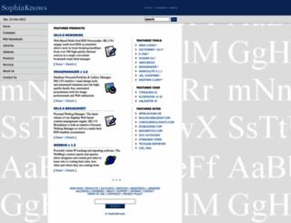sophiaknows.com screenshot
