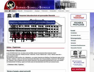 sophie-scholl-schule.eu screenshot