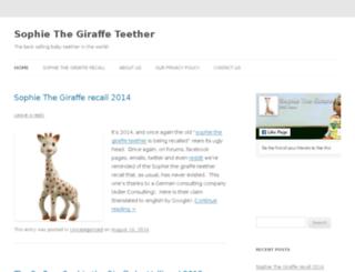 sophie-the-giraffe-teether.com screenshot
