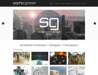 sophiegosset.com screenshot