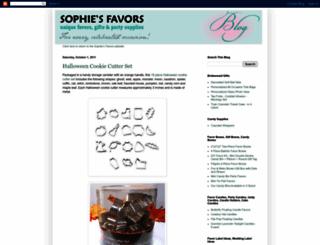 sophiesfavors.blogspot.com screenshot