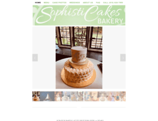sophisticakespa.com screenshot