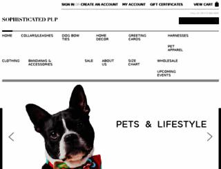 sophisticatedpup.com screenshot