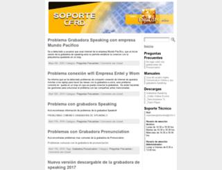 soporte.cfrd.cl screenshot