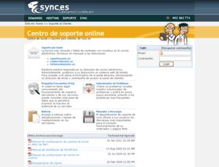 soporte.sync.es screenshot