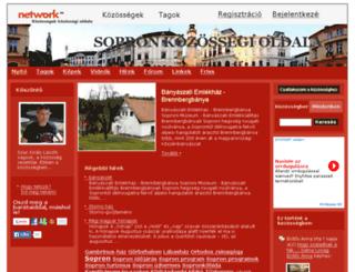 sopron.network.hu screenshot