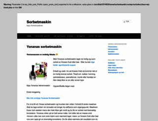 sorbetmaskin.no screenshot