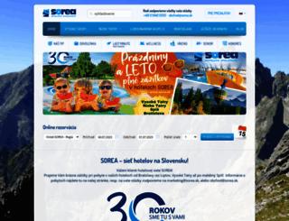 sorea.sk screenshot