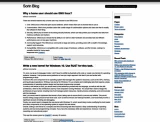 sorinblog.com screenshot