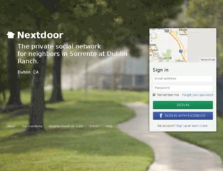 sorrentoatdublinranch.nextdoor.com screenshot
