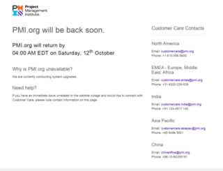 sorry.pmi.org screenshot
