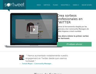 sortweet.com screenshot