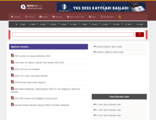 sorubak.com screenshot