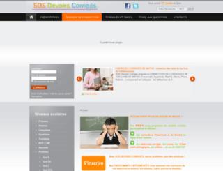 sos-devoirs-corriges.com screenshot