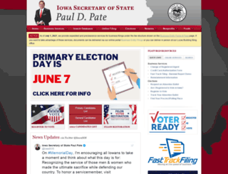 sos.iowa.gov screenshot